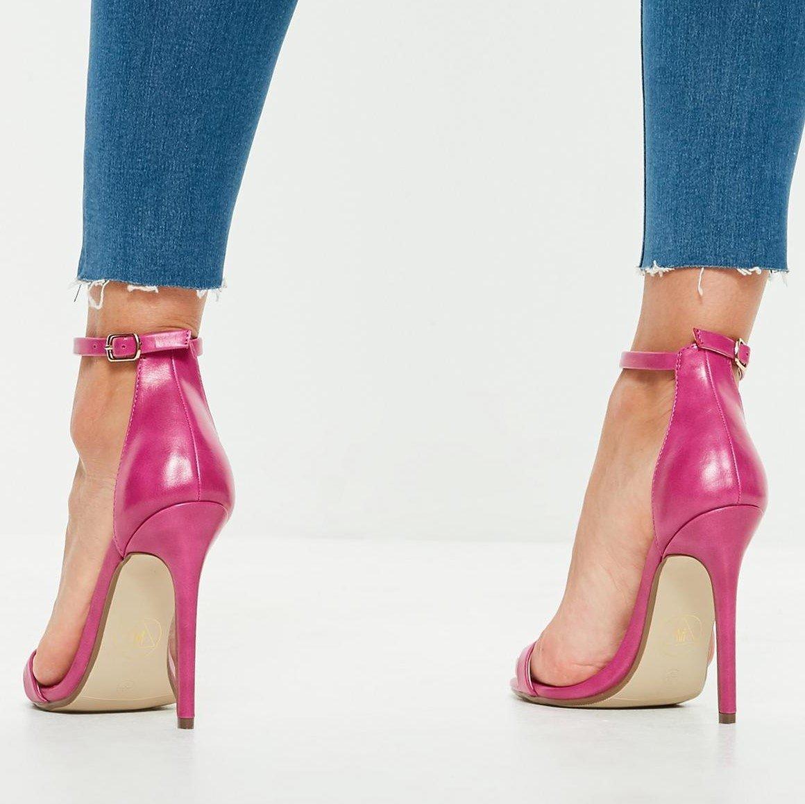 Розови кожени сандали SOPHY